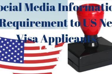 US new visa application requirements