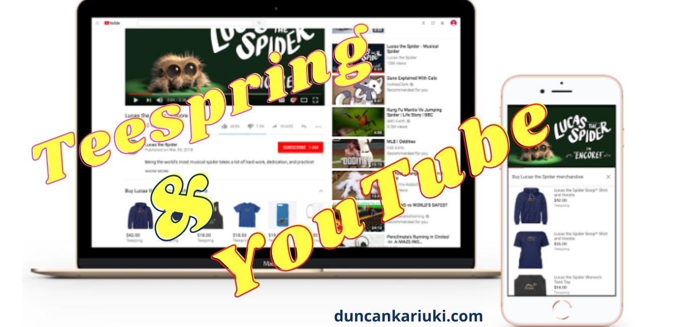 Merchandise integration between Youtube and teespring